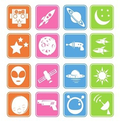 outer space icon basic style vector image vector image