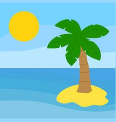 palm tree island vector image vector image