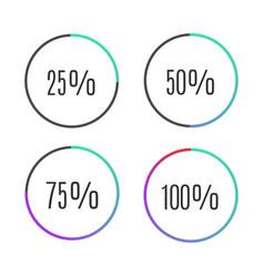 progress bar icons vector image