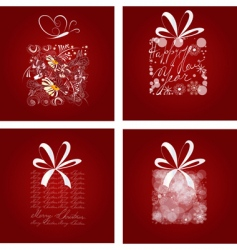 set of Christmas card vector image