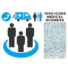 Social Group Icon with 1000 Medical Business vector image vector image
