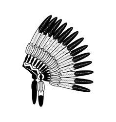 American Indian feathers war bonnet vector image
