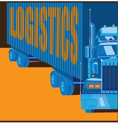 big truck vector image