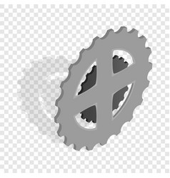 bike chain star isometric icon vector image vector image