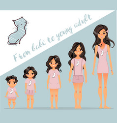 from babe to adult vector image vector image