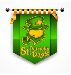 leprechaun award banner vector image vector image