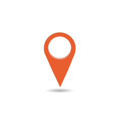 map pin flat design style modern icon pointer vector image vector image