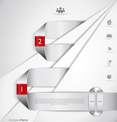 Modern design infographic template vector image vector image