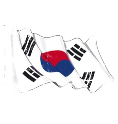 South Korea Flag Grunge vector image vector image