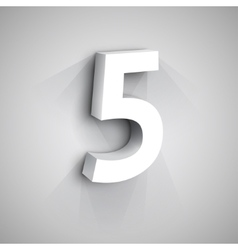 3d Number Five vector image vector image