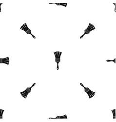 brush pattern seamless black vector image vector image