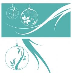 Christmas card set vector image vector image