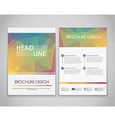 Design brochures polygonal style vector image vector image