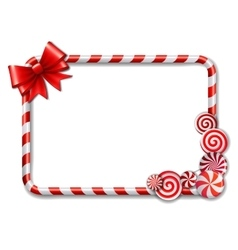 Frame made of candy cane vector image