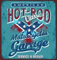hot rod motorcycle garage vector image