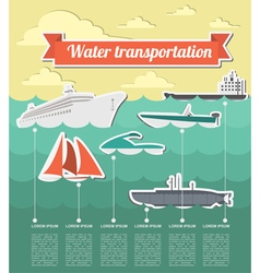 Water transport infographics elements Nautical vector image vector image