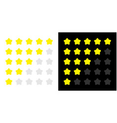 5 star rating icon set customer review survey vector image