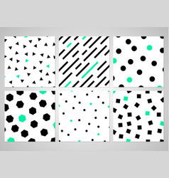 abstract black geometric pattern set with random vector image