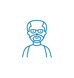 aged man linear icon concept aged man line vector image