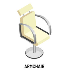 armchair or office chair in white leather vector image