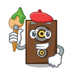 Artist speaker character cartoon style vector