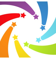 Background with rainbow stars vector