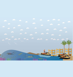 beach vacation concept flat vector image