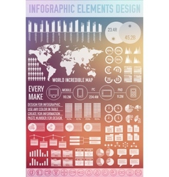 big business infographic elements set on blurred vector image