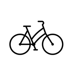 bike web sport line icon bicycle sign vector image