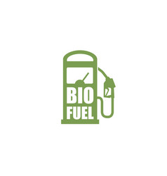 bio fuel station icon vector image