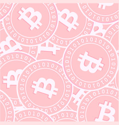 Bitcoin internet currency copper coins seamless p vector