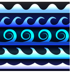 blue tones gradient waves vector image