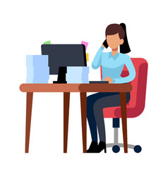 business woman works in office professional vector image