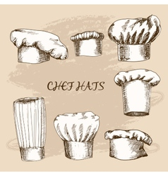 Chef hats vector image