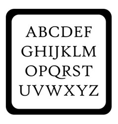 children abc icon simple style vector image