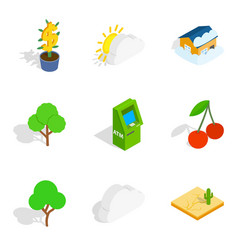 Critical vital icons set isometric style vector