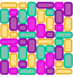 decorative background of multicolored glass mosaic vector image