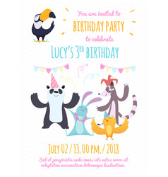 design template invitation to kids party vector image