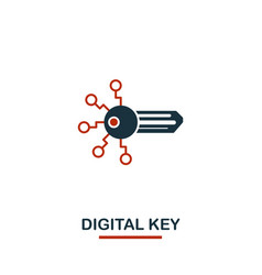 digital key icon creative two colors design from vector image