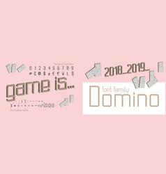domino style decorative alphabet typeface pop vector image