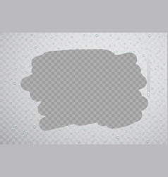 Drops condensation on misty glass vector