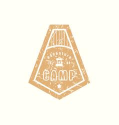 emblem of camping vector image