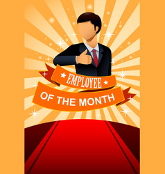 Employee of the month poster frame vector