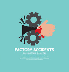 Factory accidents concept vector