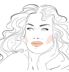 fashion makeup cosmetics hand vector image