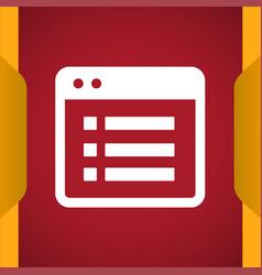 File list icon vector