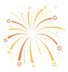 Firework design with yellow and orange stars on vector