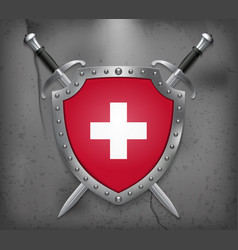 Flag of switzerland the shield with national vector