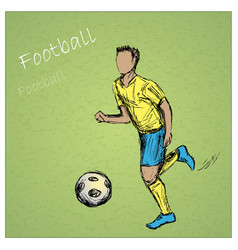 Football player vector