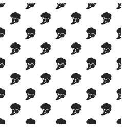 fresh broccoli pattern seamless vector image